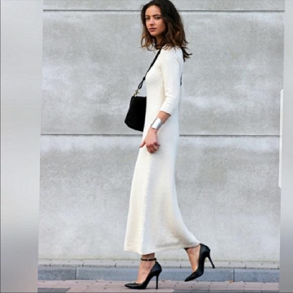 007906b2164b New Zara Knit Womens cream Sweater Dress S